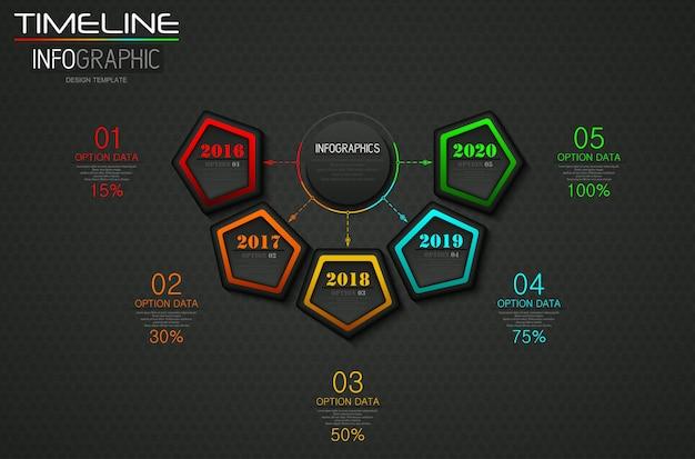 Info graphics business sjabloon concept