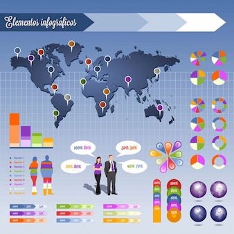 Info graphics elementen