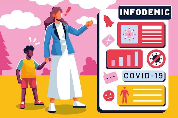 Infodemic concept illustratie