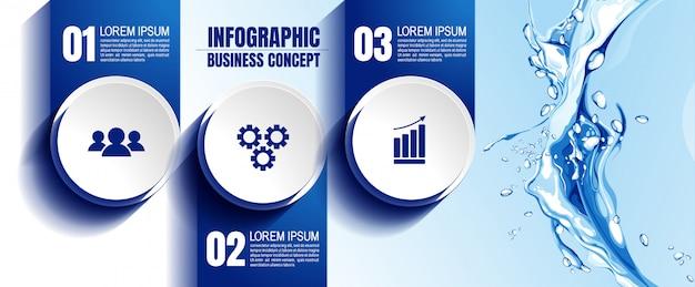 Infografisch sjabloon met 3 stappen