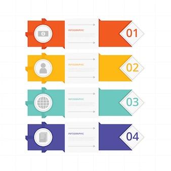 Infografische bannersinzameling
