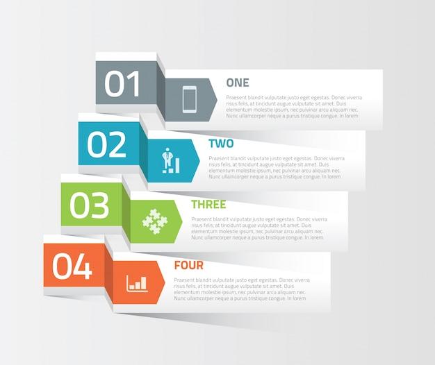 Infografische labels decoratieve vector