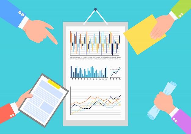Infografische statistieken en analysegegevens