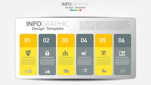 Infograph stappen kleurelement met pijl, grafiek diagram, online marketing bedrijfsconcept.