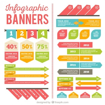 Infographic banners