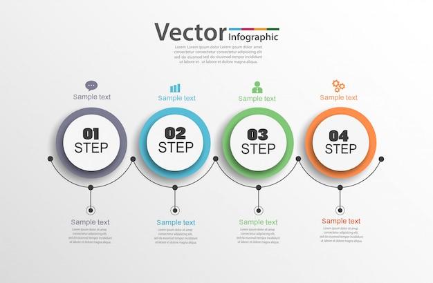 Infographic bedrijfsconcept met 4 stappen