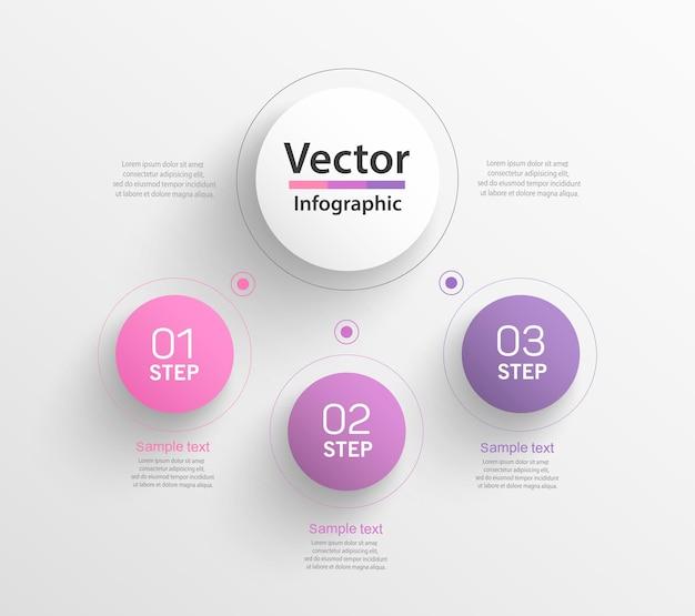 Infographic bedrijfsconcept met stappen
