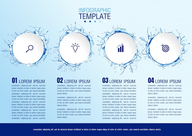Infographic bedrijfsgegevens met 4 stappen