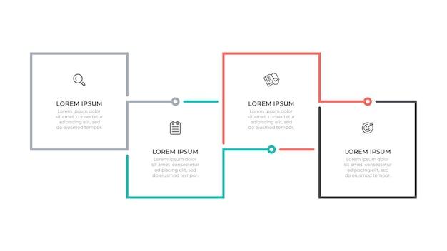 Infographic bedrijfsprocesjabloon