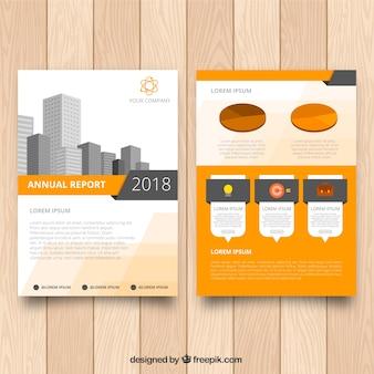 Infographic brochureontwerp