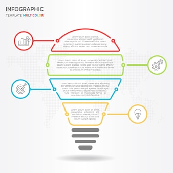 Infographic bulb 4 opties