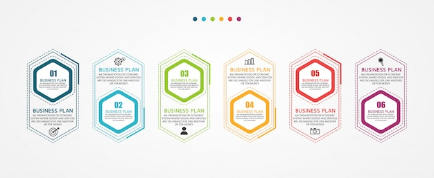 Infographic business kan worden gebruikt voor het proces van presentaties, lay-outs, banners, gegevensgrafieken in bedrijfsstudies.
