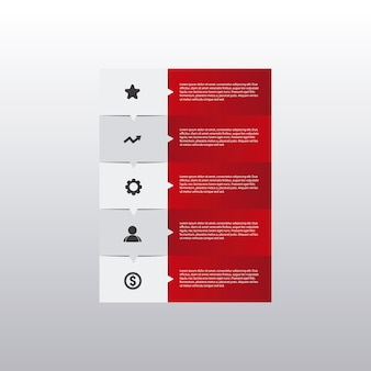Infographic business red
