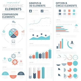 Infographic business vector elementen collectie