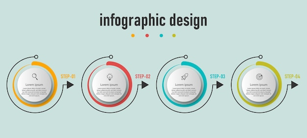 Infographic cirkel elementen sjabloon
