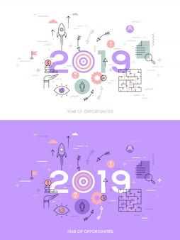 Infographic concept 2018 jaar van kansen
