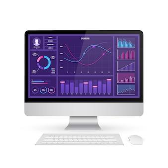 Infographic dashboard aandelenmarkt.