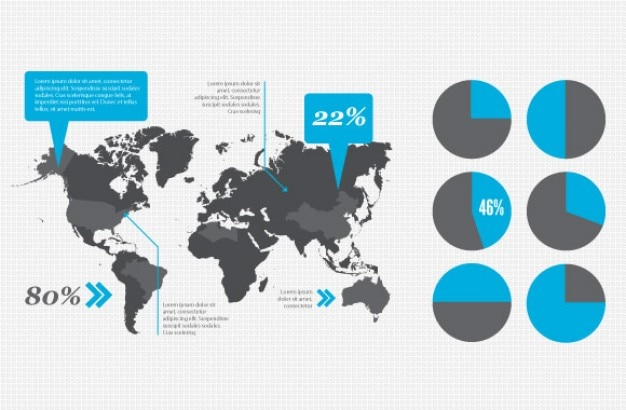 Infographic design elementen vector