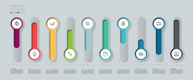 Infographic designelementen.