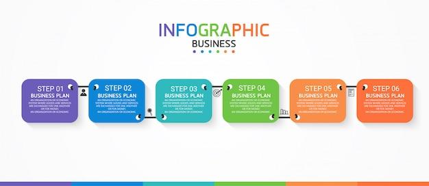 Infographic educatieve zakelijke sjabloon