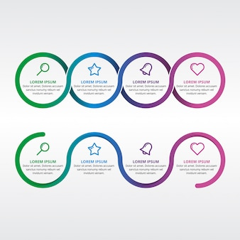 Infographic element cirkel webpresentatie