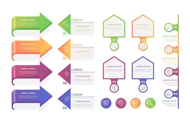 Infographic element collectie concept