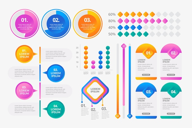 Infographic element collectie concept