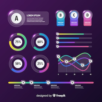 Infographic element collectie plat ontwerp