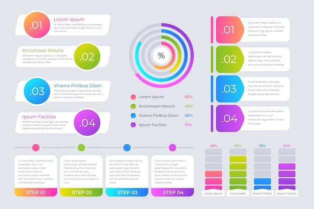 Infographic element collectie sjabloon