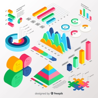 Infographic element collectie