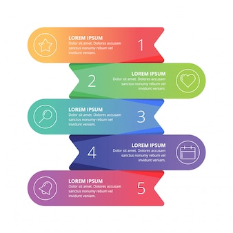 Infographic element webpresentatie
