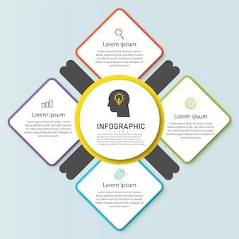 Infographic element zakelijke stappen