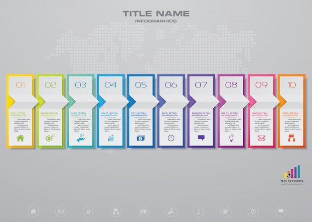 Infographic elementen grafiek.