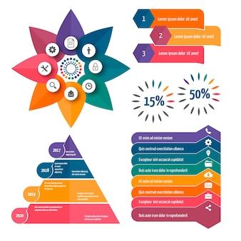 Infographic elementen in plat ontwerp