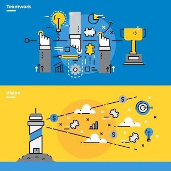 Infographic elementen over het bedrijfsleven
