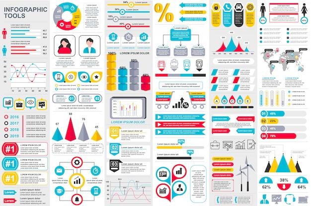 Infographic elementen vector ontwerpsjabloon