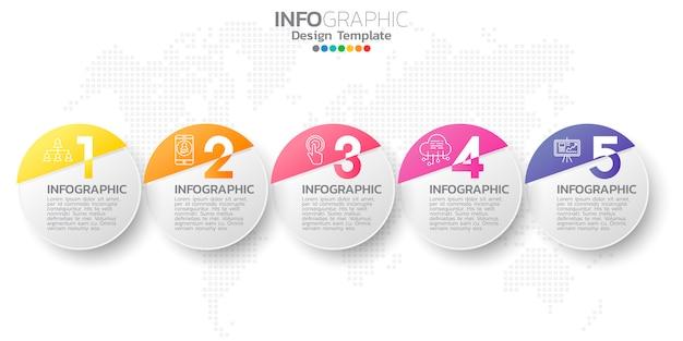 Infographic elementen voor inhoud.