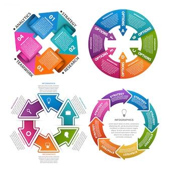 Infographic elementen voor presentaties.