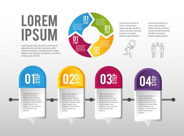 Infographic fabrieksprocessgegevensinformatie