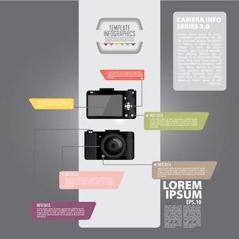 Infographic fotocamera ontwerp