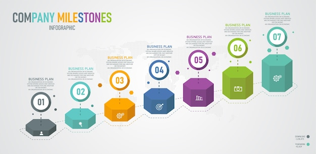 Infographic grafiek 3d