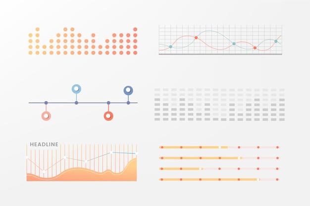 Infographic grafiek collectie ontwerp