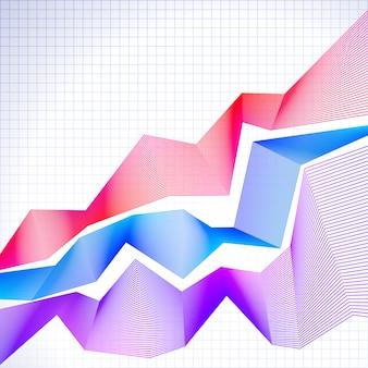 Infographic grafiek met gemengde grafieken