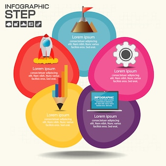 Infographic grafiek met verklarend tekstveld
