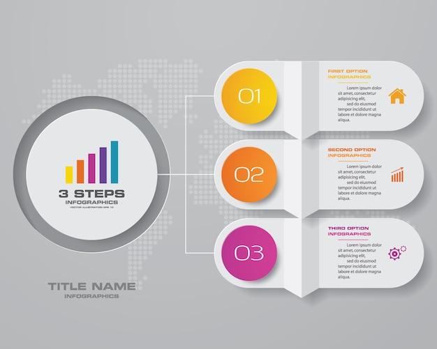 Infographic grafiek ontwerpelement