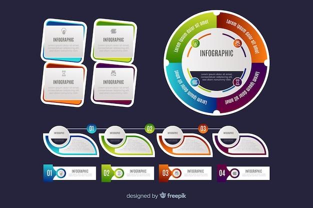 Infographic grafiekcollectie ontwerp