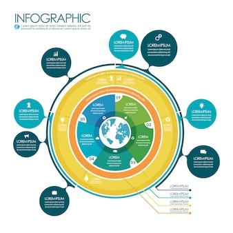 Infographic grafieksjabloon