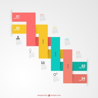Infographic gratis label graphics