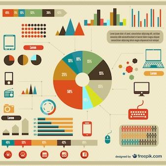 Infographic gratis vector elementen ontwerpen