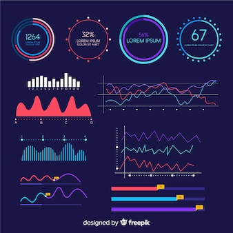 Infographic groei dashboard sjabloon